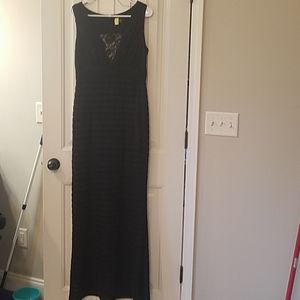 Adrianna Papell black evening gown sz 10